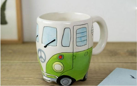 Hand Painted VW Bus Mug