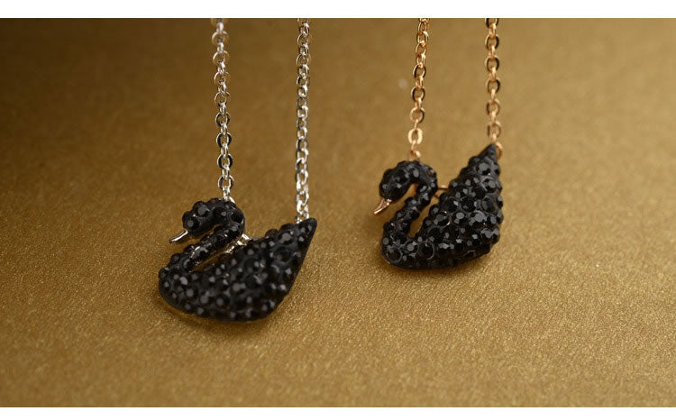 Luxury Black Swan Necklace