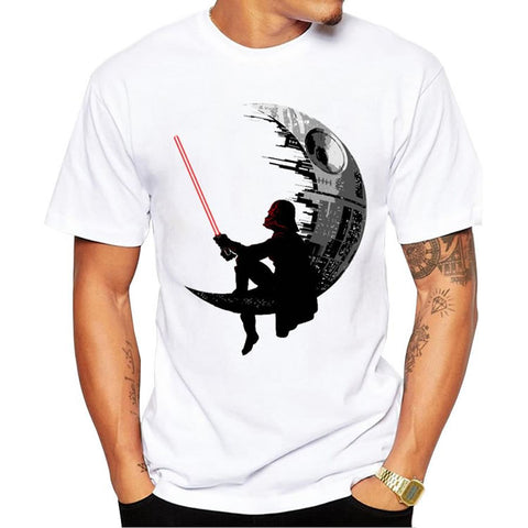 Star Wars Darth Vader Sitting On Death Star T-Shirt