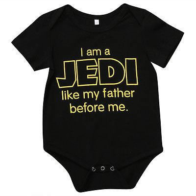 Star Wars JEDI One Piece Newborn Baby Bodysuit