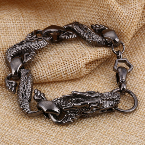 New Design Gun Black Dragon Bracelet For Men