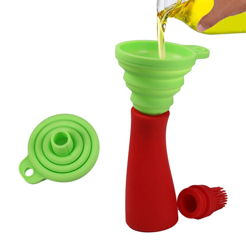 Silicone Collapsible Funnel Hopper