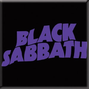 Black Sabbath / Purple Logo Magnet