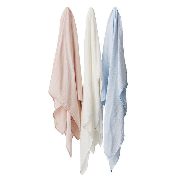 Boody Baby Bamboo Muslin Wrap Swaddling Blanket in Assorted Colors