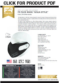 Benchmark FR CAT 2 Flame Resistant Face Mask