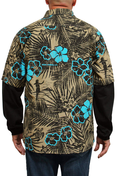 Aloha FRiday Flame Resistant Hawaiian Shirt Beige