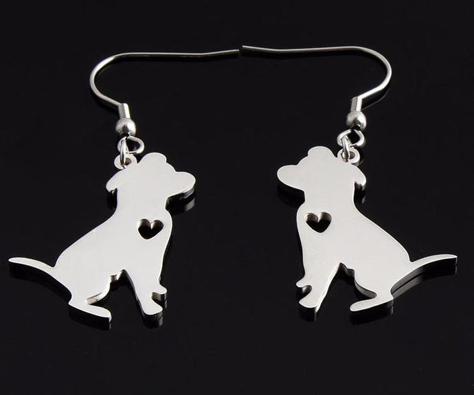 Pit Bull Lovers Earring Dangle Stainless Steel