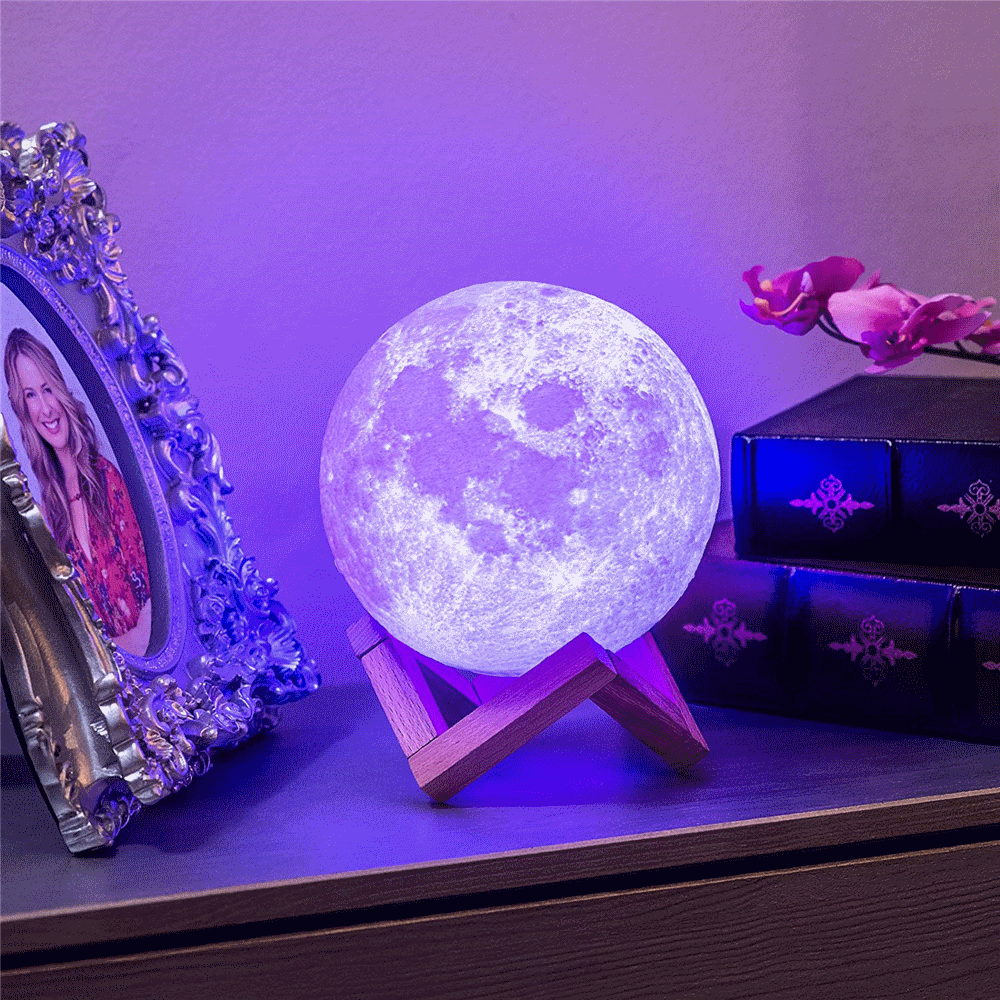 Electrika Smart Multi Colors Remote Control Moon Nightlight Lamp