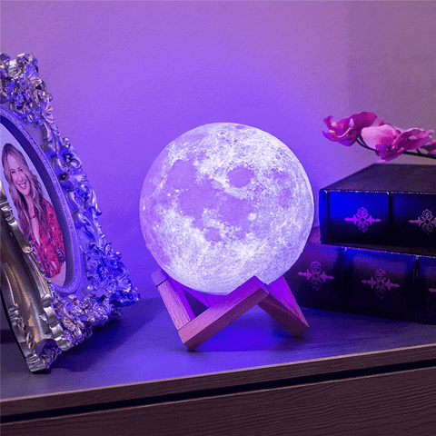 Electrika™ - Smart Multi Colors Remote Control Moon Nightlight Lamp