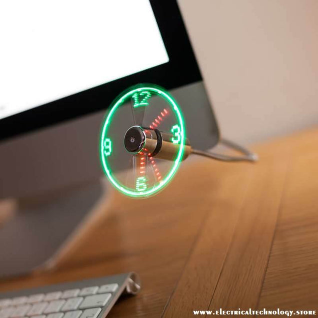 Adjustable-USB-Gadget-Mini-LED-Light-USB-Fan-Clock-High-Quality-electrical technology