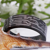 Circuitry ™ - Exclusive Circuit Ring for Electronics Lovers - Black