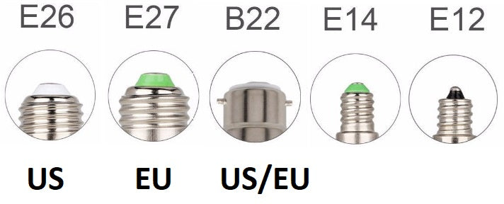 E27 E26 E14 E12 B22 bulb base EU US Electrika™ - Official LED Flame Effect Lamp