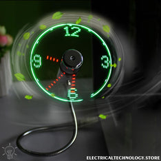 Flashing and Glowing USB LED FAN CLOCK ELECTRICAL TECHNOLOGY