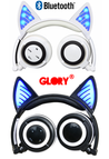 Glory® -  BLUETOOTH LED CAT EAR HEADPHONES (Wireless & Rechargeable) - 2017 Black and White