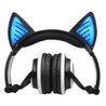 Glory® -  BLUETOOTH LED CAT EAR HEADPHONES (Wireless & Rechargeable) - 2017 Black Foldable and Flashing