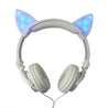 LED Flashing Hot Cat Ear Headphone White Only on Exclusiveoffers.co
