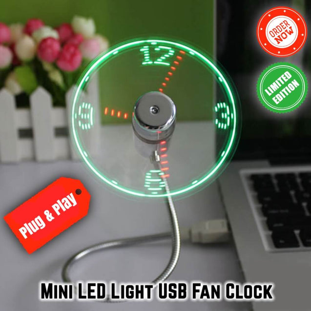 USB LED FAN CLOCK