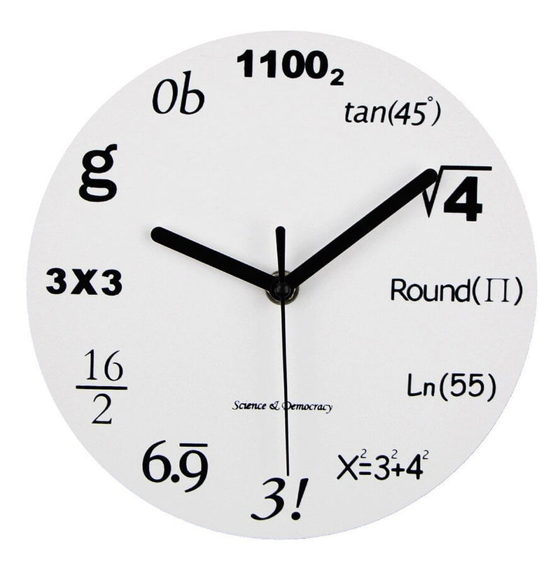Math Equations Wall Clock for Engineers & Math Lovers