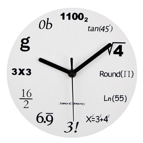 Perfect Math Equations Wall Clock for Engineers & Math Lovers! 2 New Designs
