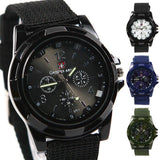Military Style Canvas Belt Luminous Quartz Watch - Exclusive Offer