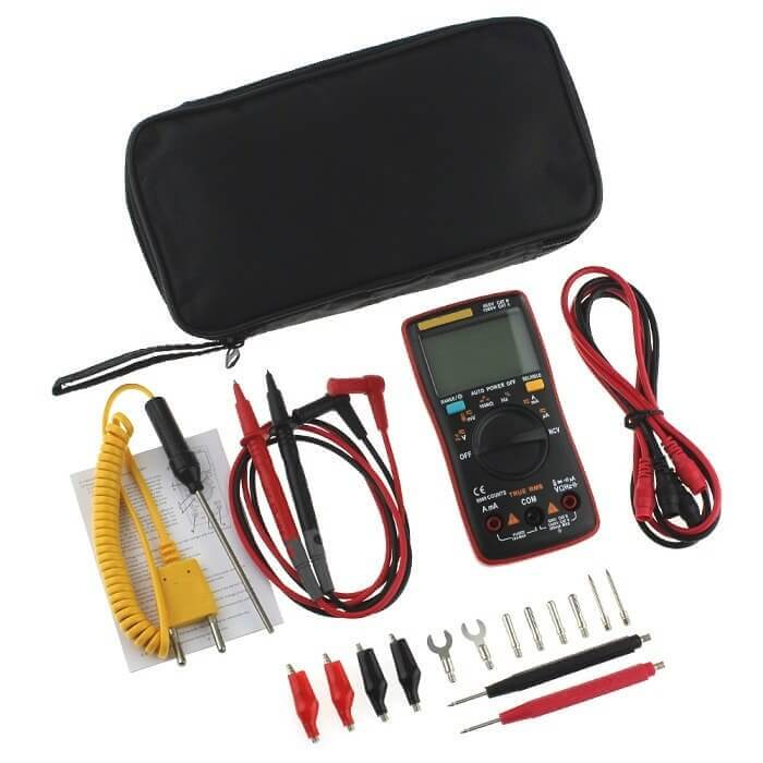 Multifarious®- Auto Range Digital Multimeter 9999 Counts With Backlight - 15+ Features