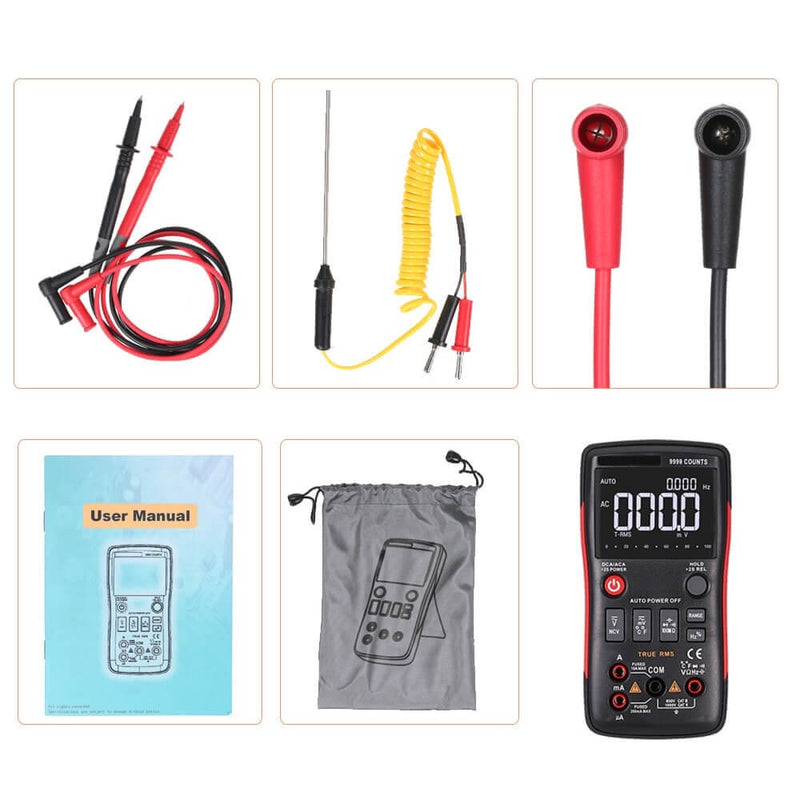 Numerous® - Digital Multimeter - AC/DC Voltage, Current, Resistance, NCV, Temperature, Diode and Much More Testing Features