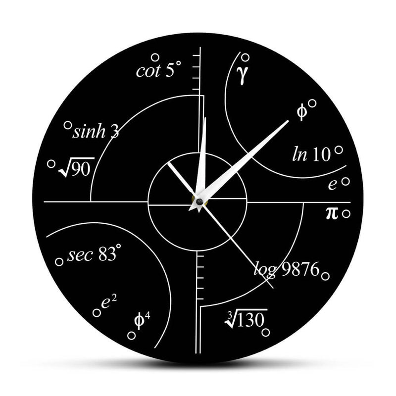 Perfect Math Equations Wall Clock for Engineers & Math Lovers! 5 New Designs
