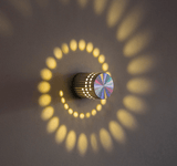 Multi Color Remote Control Home Decorative Spiral LED Wall Light