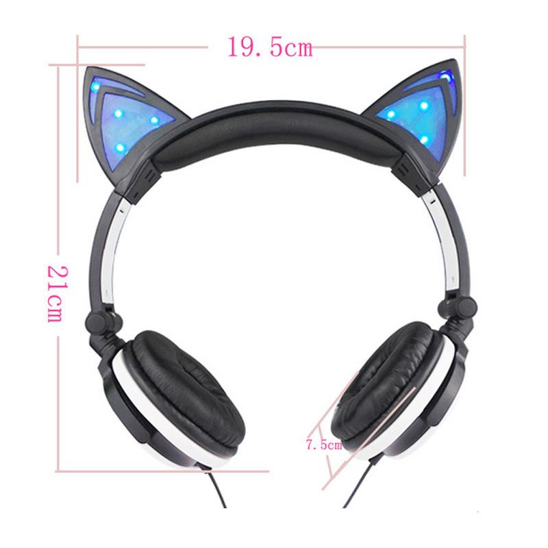Sizing of LED Cat Ear Headphone