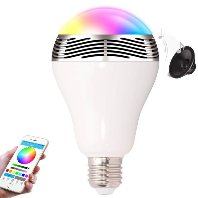The Glitter ™ Bluetooth LED Light Bulb with Speaker - Mobile App Control
