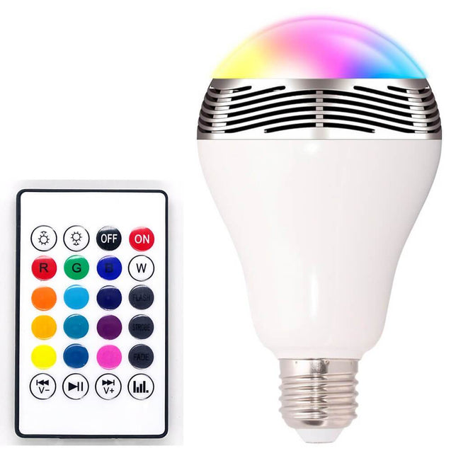 The Glitter ™ Bluetooth LED Light Bulb with Speaker - RF - AF Remote Control