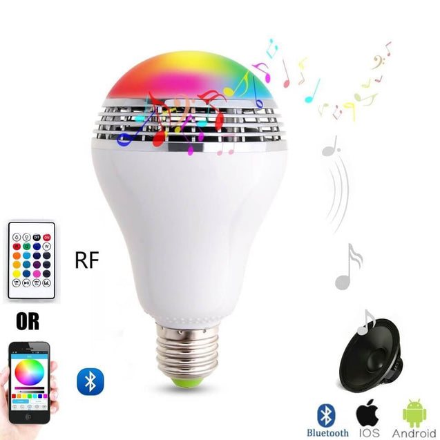 The Glitter ™ Bluetooth LED Light Bulb with Speaker - Remote and Mobile App control