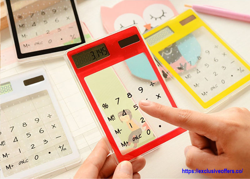 Touch Screen Transparent Electronic Calculator for Your Kids