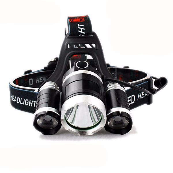 Electrika™ Exclusive LED Headlamp & Headlight - 3x XM-L T6, 9000 Lumen, 2x 18650mAh