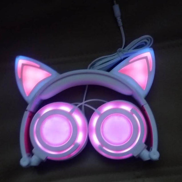 Exclusive 2017 - Flashing & Foldable Cat Ear LED Headphones (Only on Exclusive Offers)