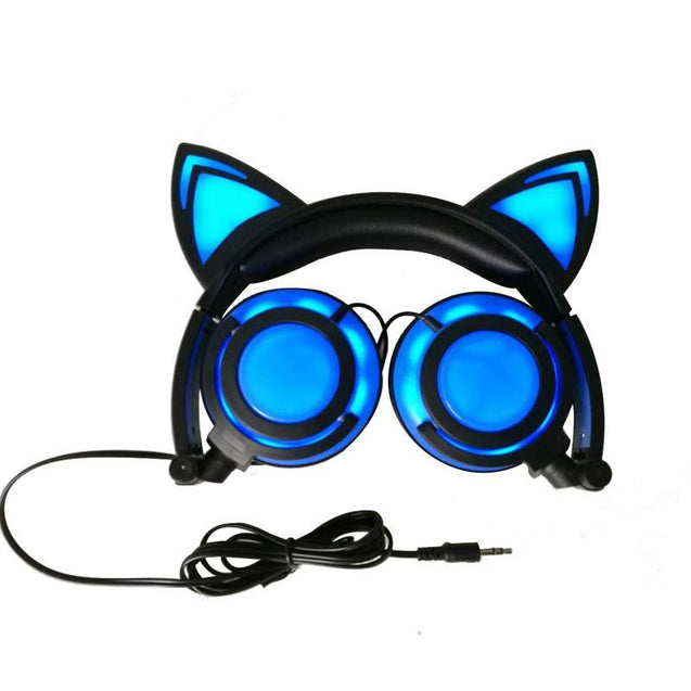 exclusive offer Cat ear led headphones flashing