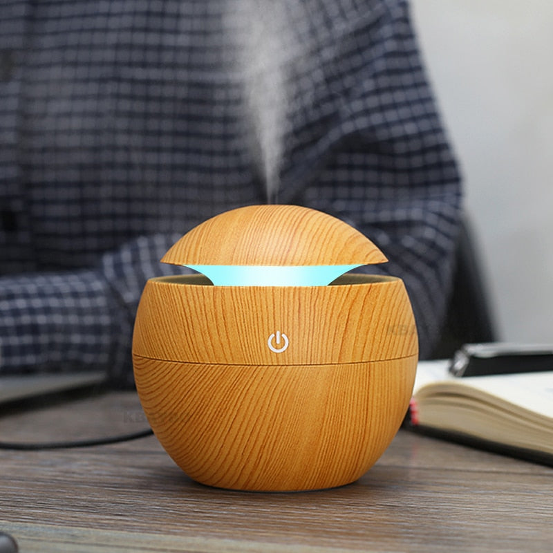 USB LED NIGHT 7 Colors Aroma & Perfume Ultrasonic Diffuser, Air fresher & Purifier - Suitable for Home & Office - Free Shipping