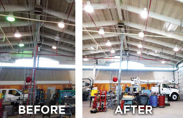 Before / After Shop LED Light