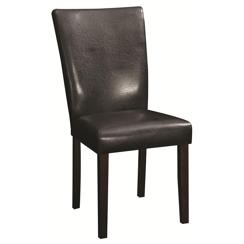 DINING CHAIR CALYPSO PU 104225 DARK BROWN