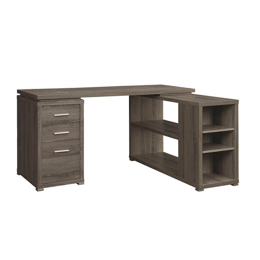 Corner Desk with shelving 800518_WEATHERED GREY