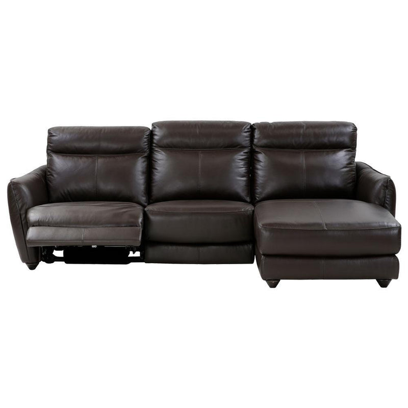 ATLAS SECTIONAL B DK BROWN LAF LS PWR REC , RAF CHAISE A