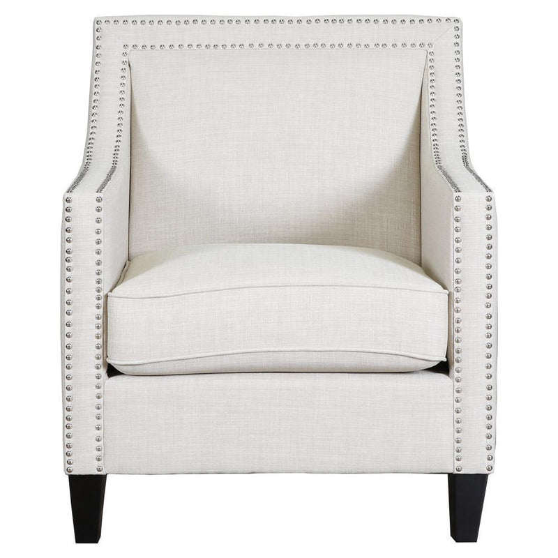 Daphne Collection Nailhead Accent Chair   Natural