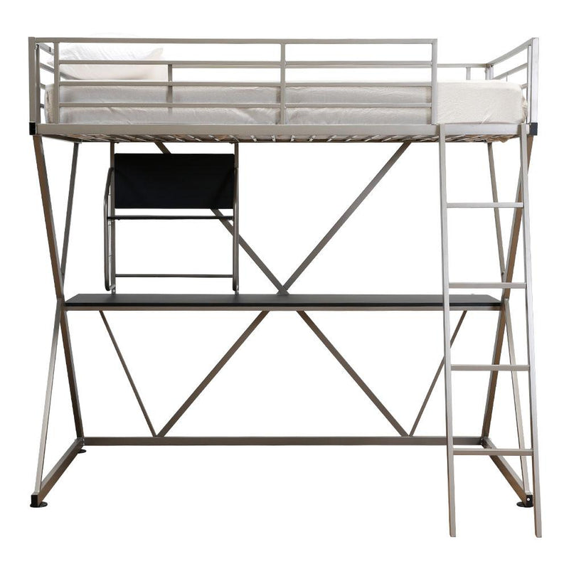 STUDY LOFT BED RAILS 941-119PEWTER