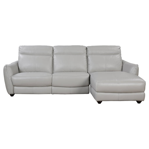 ATLAS SECTIONAL SILVER GREY LAF PWR REC LS , RAF CHAISE