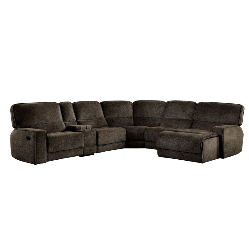 KEVIN 6PC RECLINING SECTIONAL  BROWN