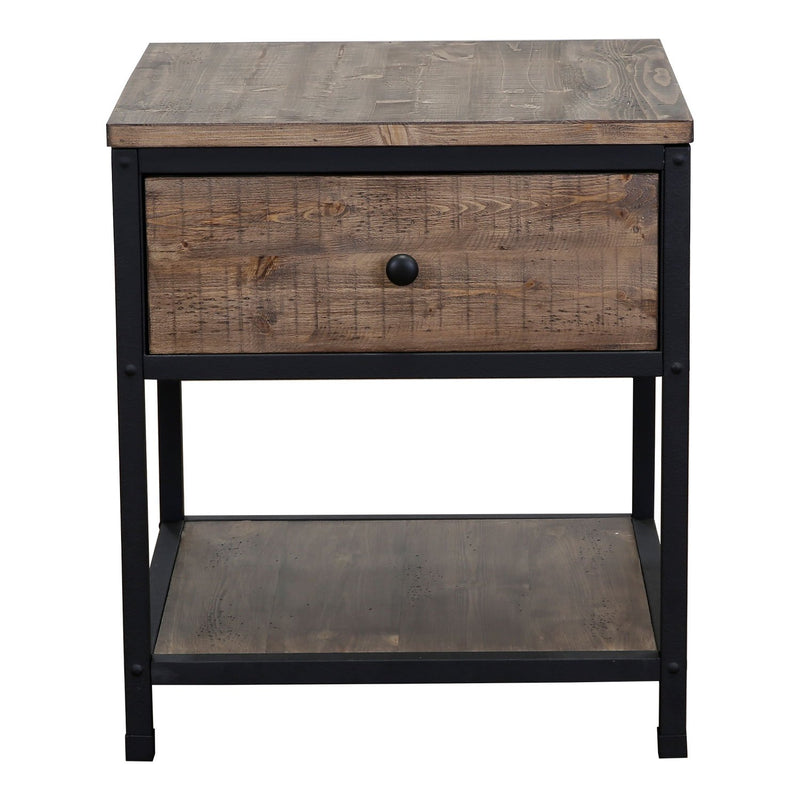 DAWSON END TABLE T4039-01 WEATHERED BARLEY