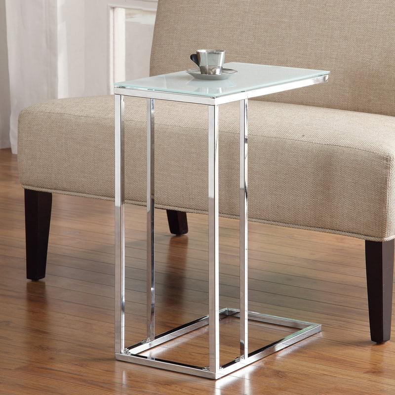 HANNAH ACCENT TABLE 900250 CHROME