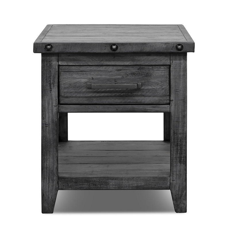 QUINCY END TABLE GNL6000-END BURNT GREY
