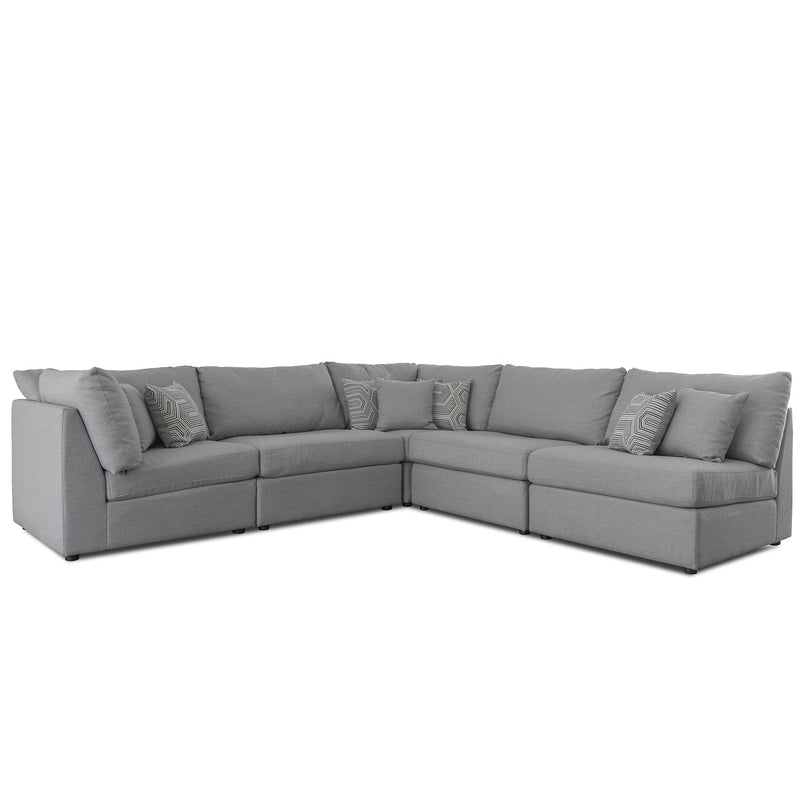 Taylor 5 Piece Sectional - Brittany Grey