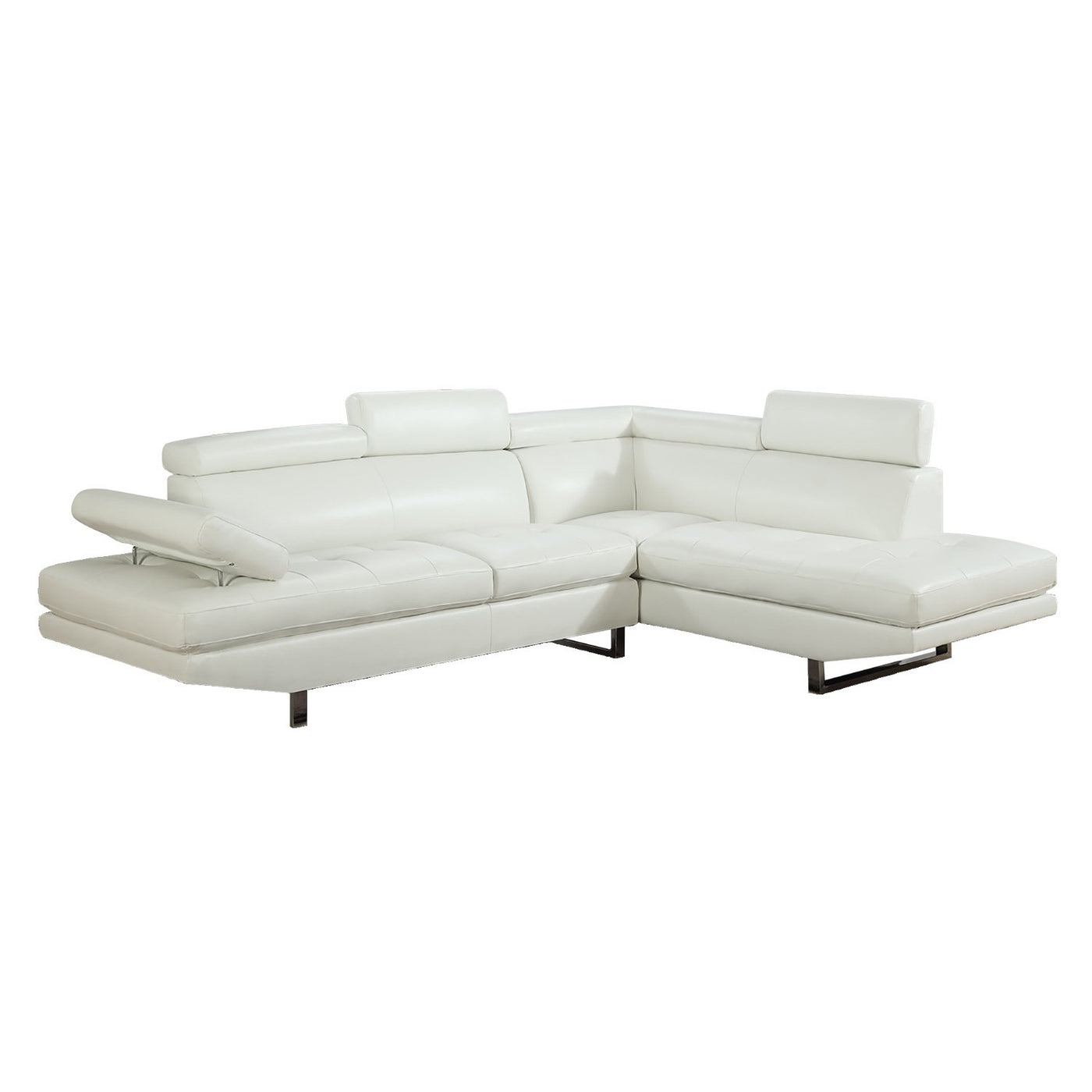 Wyatt Sectional With RAF Chaise   White